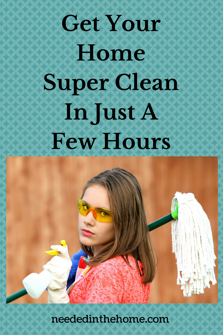 Get Your Home Super Clean In Just A Few Hours woman ready to do housework neededinthehome