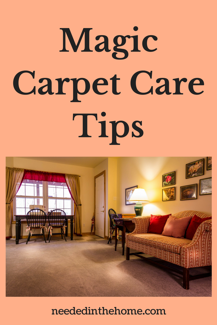 Magic Carpet Care Tips living room with a clean rug neededinthehome