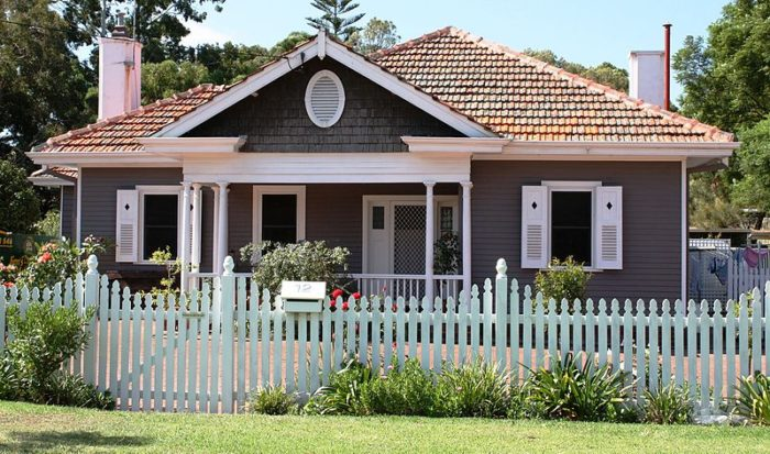 Home life: are you prepared for anything? house with a white picket fence around it