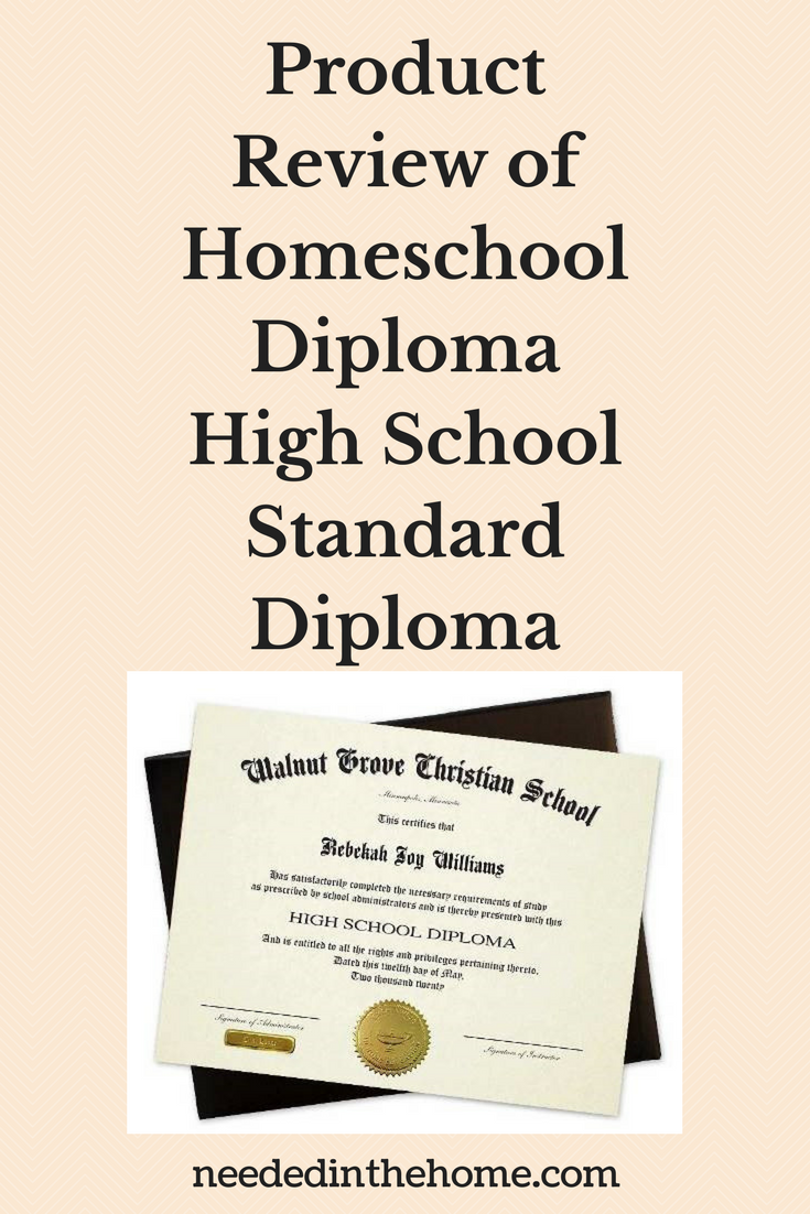 Product Review of Homeschool Diploma High School Standard Diploma neededinthehome