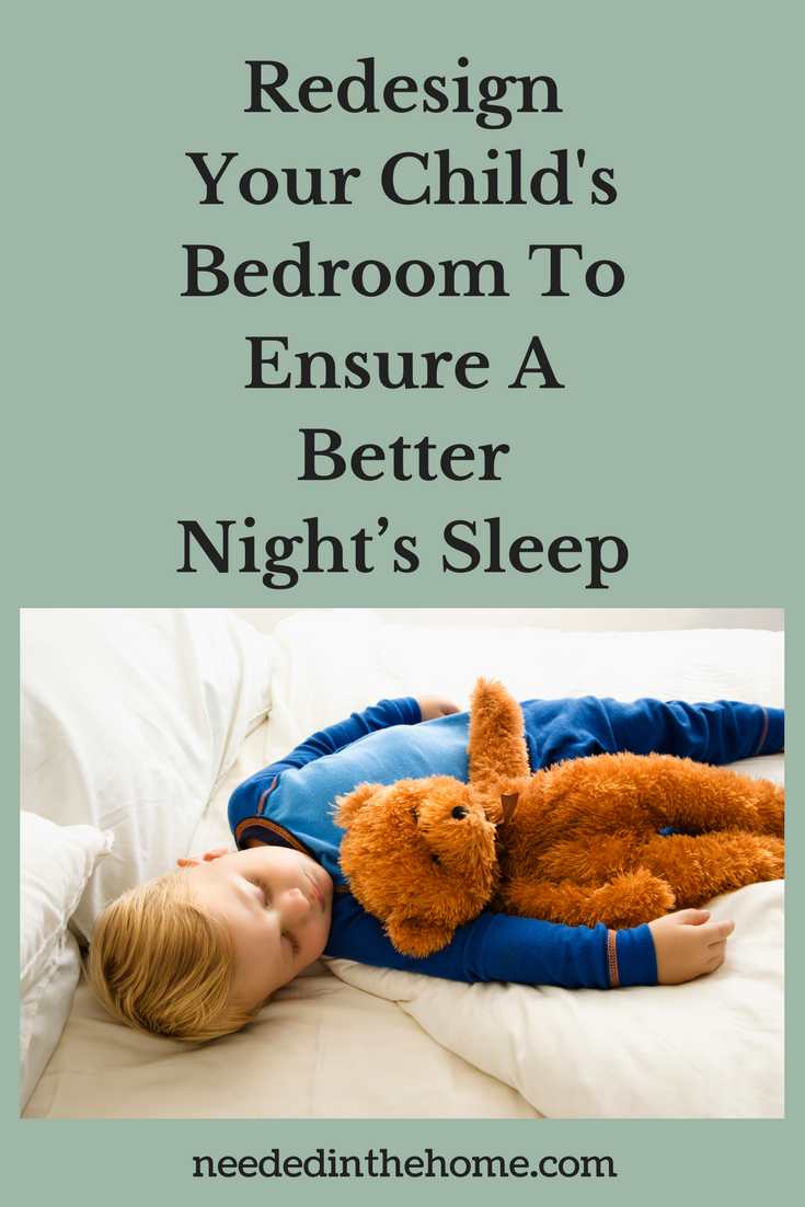 Redesign Your Child's Bedroom To Ensure A Better Night's Sleep little boy asleep with his teddy bear neededinthehome