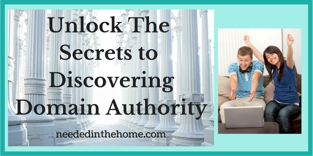 Domain Authority - Unlock the secrets to discovering domain authority man and woman celebrating in front of laptop neededinthehome