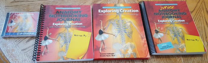 Apologia shipment of MP3 CD Standard and Junior Anatomy Notebooking Journal spiral workbooks textbook of Exploring Creation with Human Anatomy and Physiology