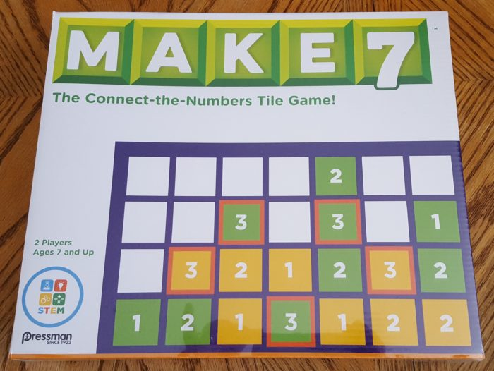 Review of Goliath Games Make7 the connect-the-numbers tile board game