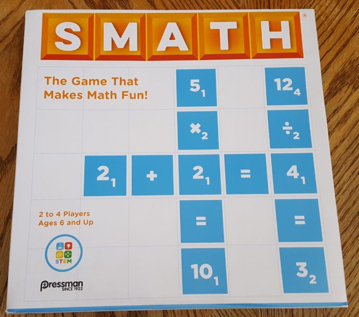 review of Goliath Games Smath the game that makes math fun box cover
