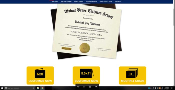 Ordering a High School Homeschool Diploma Online