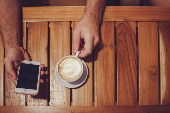 Restoring wood furniture refinished wood table smartphone coffee