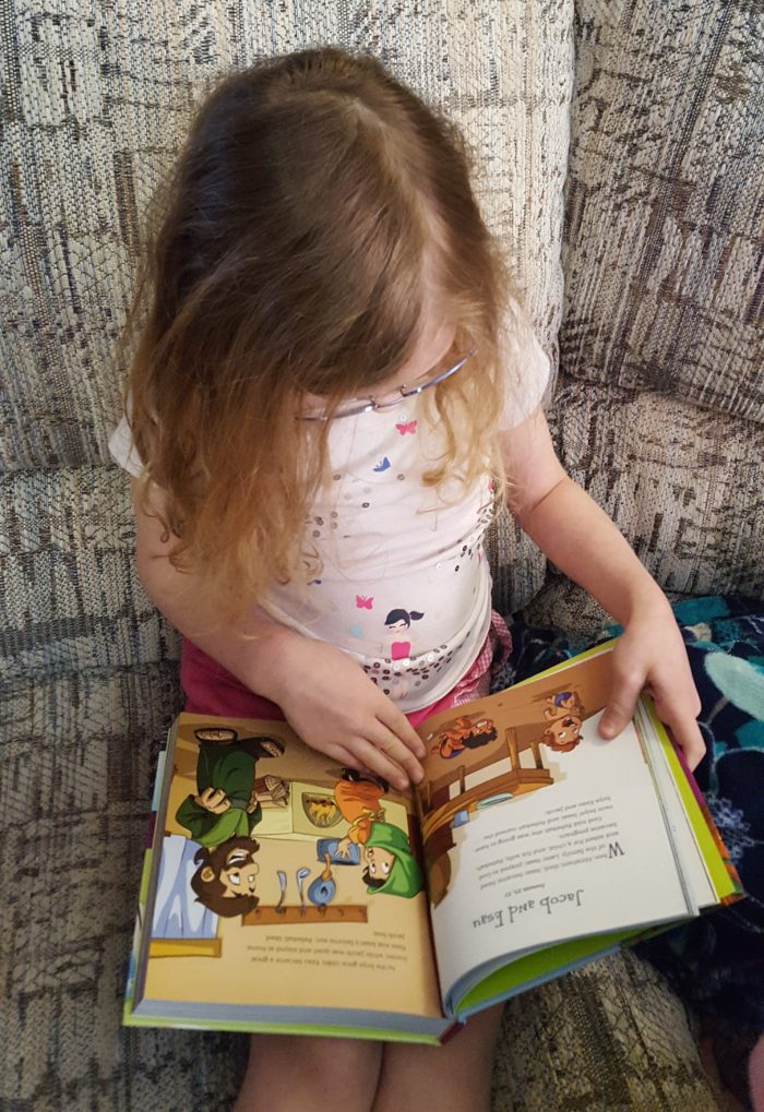Planet 316 story Bible young girl reads it