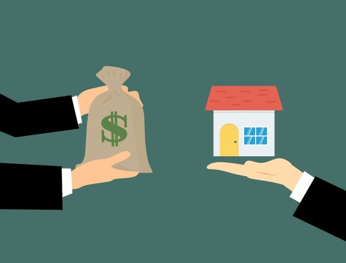 Quick Sale of your home trading money for your house illustration