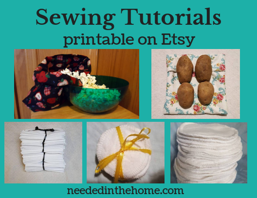Sewing Tutorials printable on Etsy NeededInTheHome