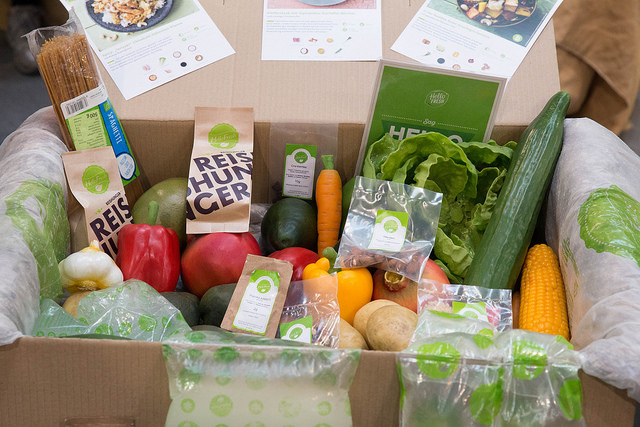 Health and Wellness home business image box of food
