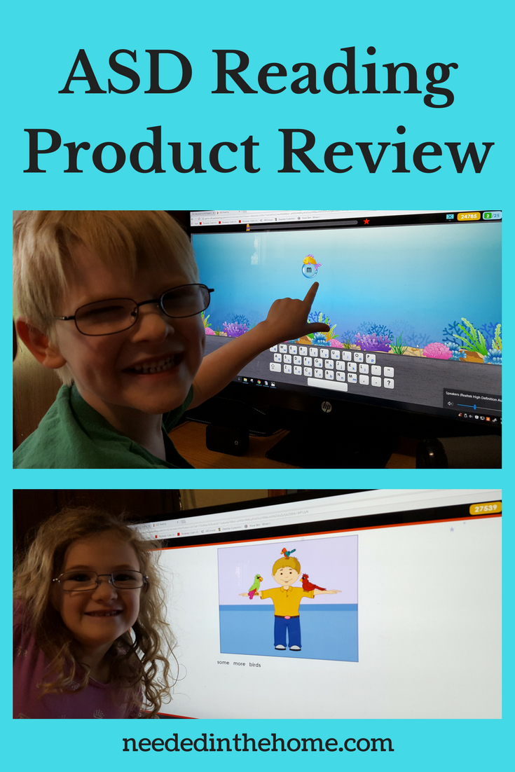 ASD Reading Product Review image boy girl computer screen reading program for autism spectrum disorders neededinthehome
