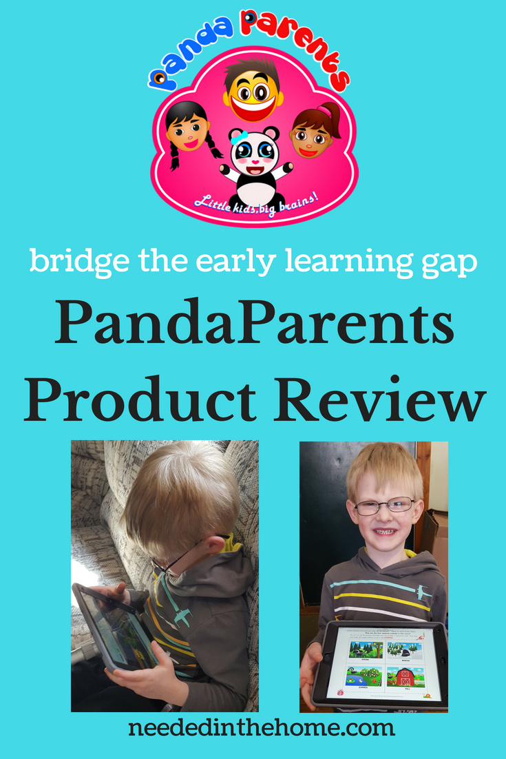 PandaParents bridge the early learning gap PandaParents Product Review image logo boy with iPad neededinthehome