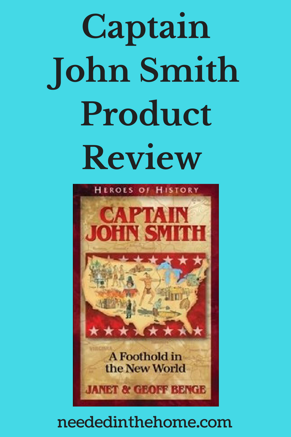 Captain John Smith Product Review book cover neededinthehome