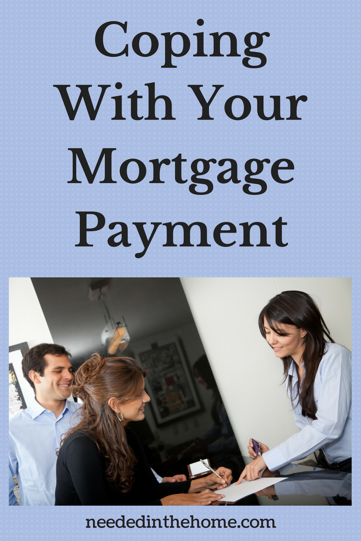 Coping With Your Mortgage Payments - image couple signing paperwork with a lender neededinthehome