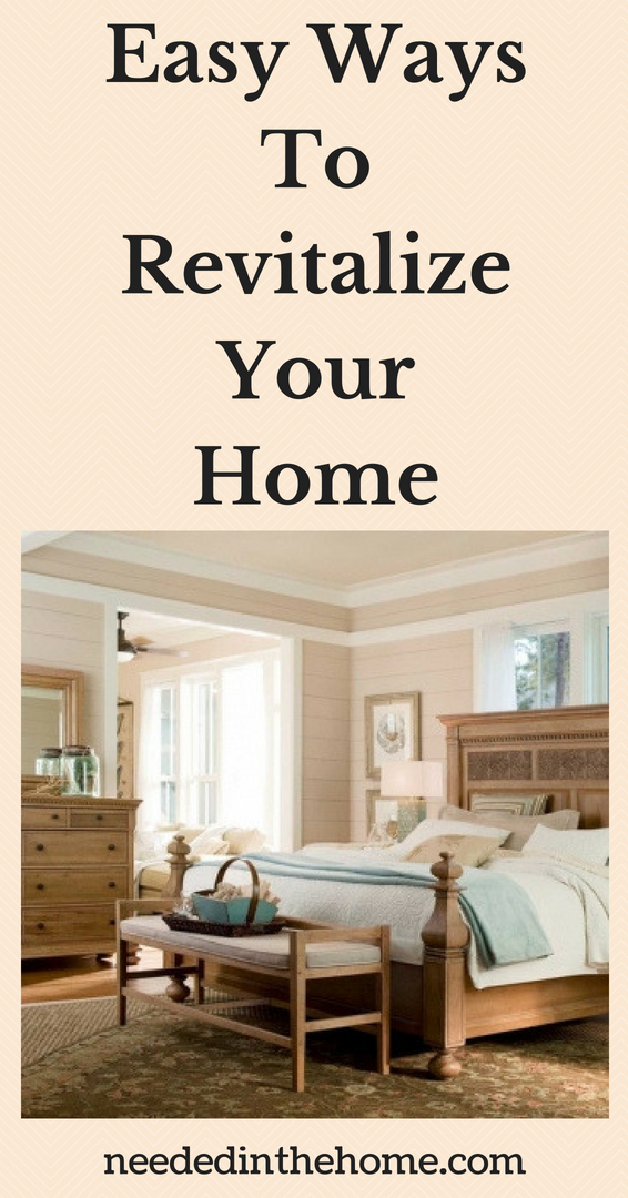Easy Ways To Revitalize Your Home image Paula Deen Furniture bed headboard dresser bedroom neutral colors neededinthehome