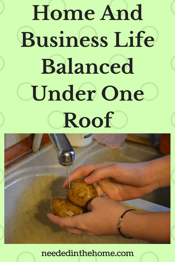 Home And Business Life Balanced Under One Roof image washing potatoes for supper neededinthehome