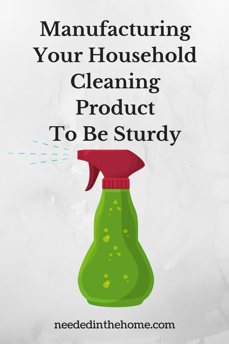 Manufacturing Your Household Cleaning Product To Be Sturdy image plastic spray bottle illustration neededinthehome