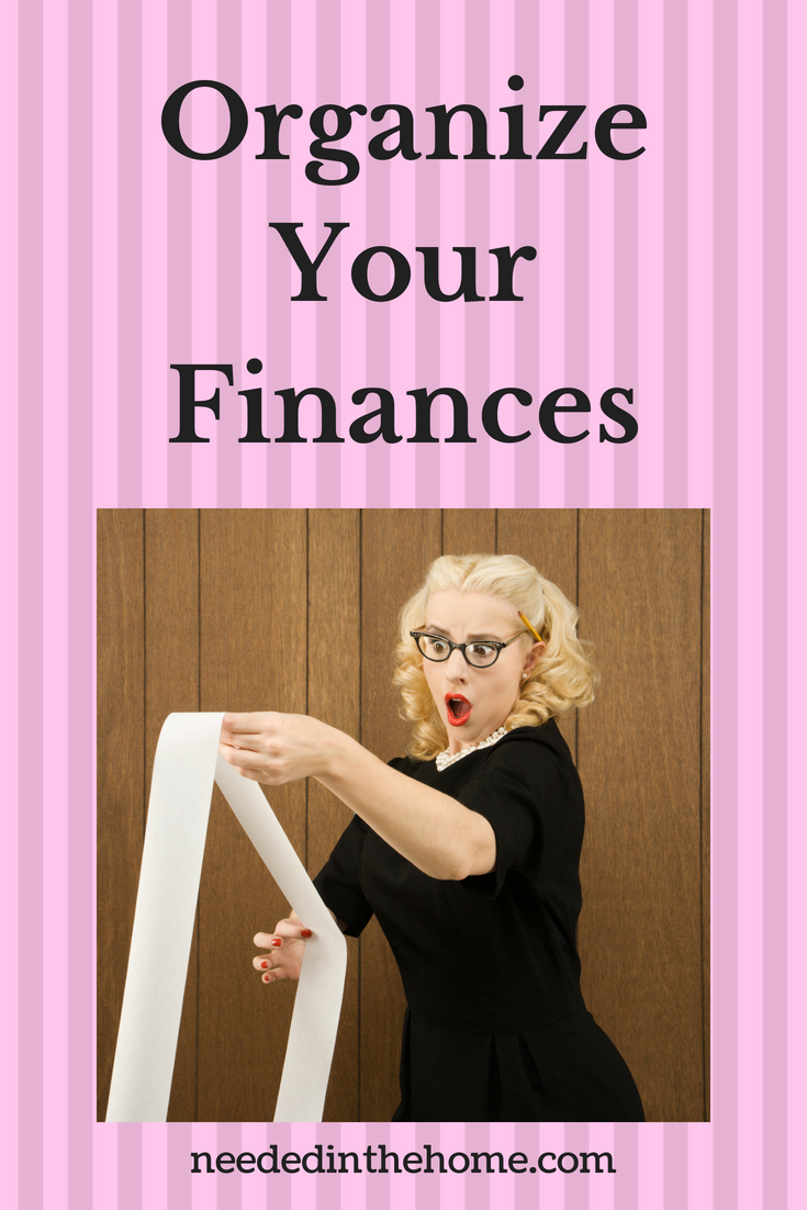 Organize your finances image woman in glasses looking at accounting balance receipt neededinthehome