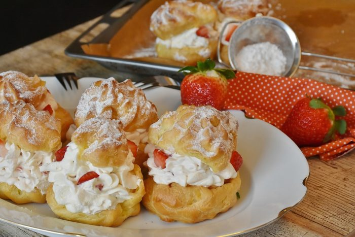 Staging Your Home - image strawberry cream puffs offer a treat to your open house guests