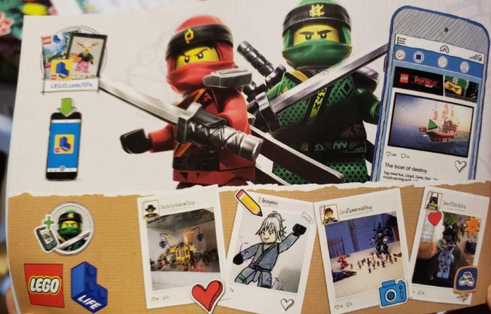Lego Ninjago Hunted set instruction manual page showing art featured by Marissa Marohl