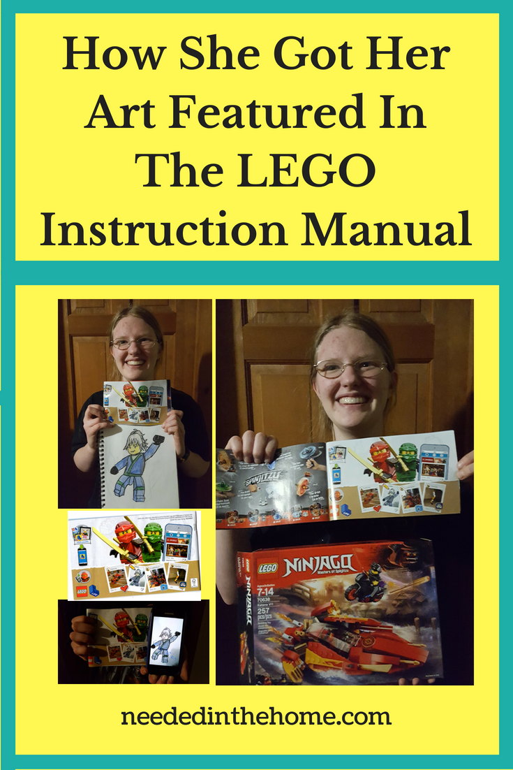 How She Got Her Art Featured In The LEGO Instruction Manual images woman in glasses holding lego building set instructions smartphone neededinthehome