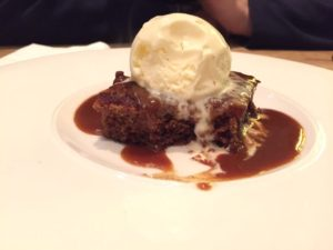 Pudding in Edinburgh image sticky toffee pudding Westroom Edinburgh