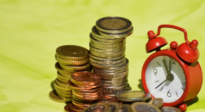 Passive Income Ideas coins clock time is money