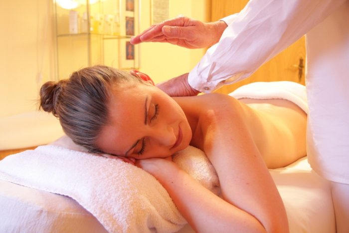 Health and Wellness home business image woman having a massage