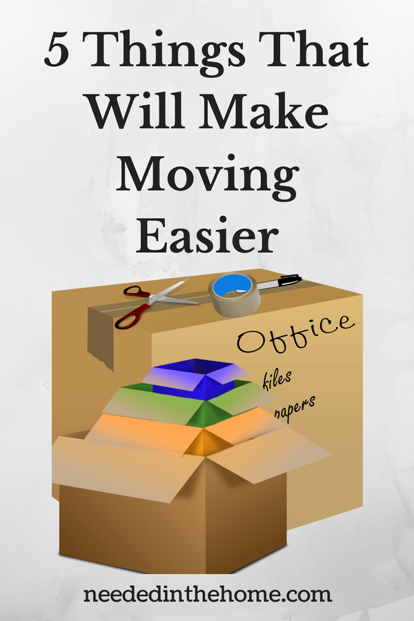 5 Things That Will Make Moving Easier image moving boxes tape scissors pen neededinthehome