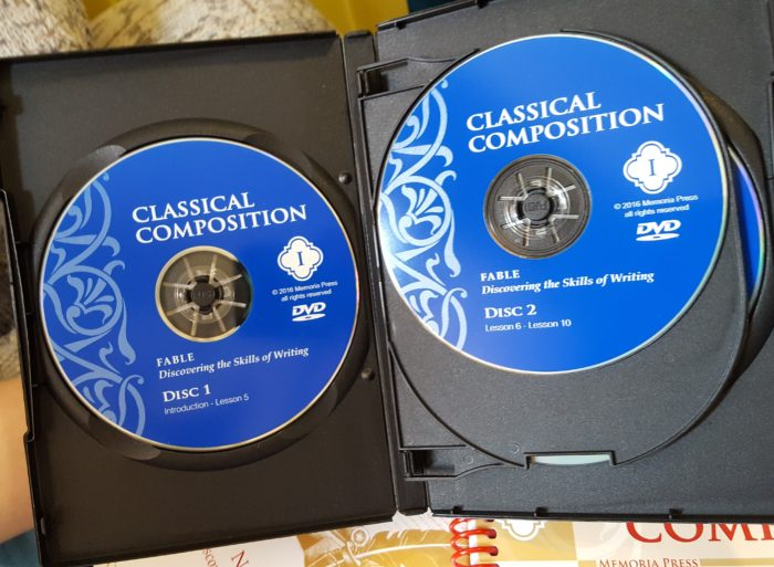 Classical Composition Fable and Narrative Product Review of Memoria Press inside look of the Fable DVD pack
