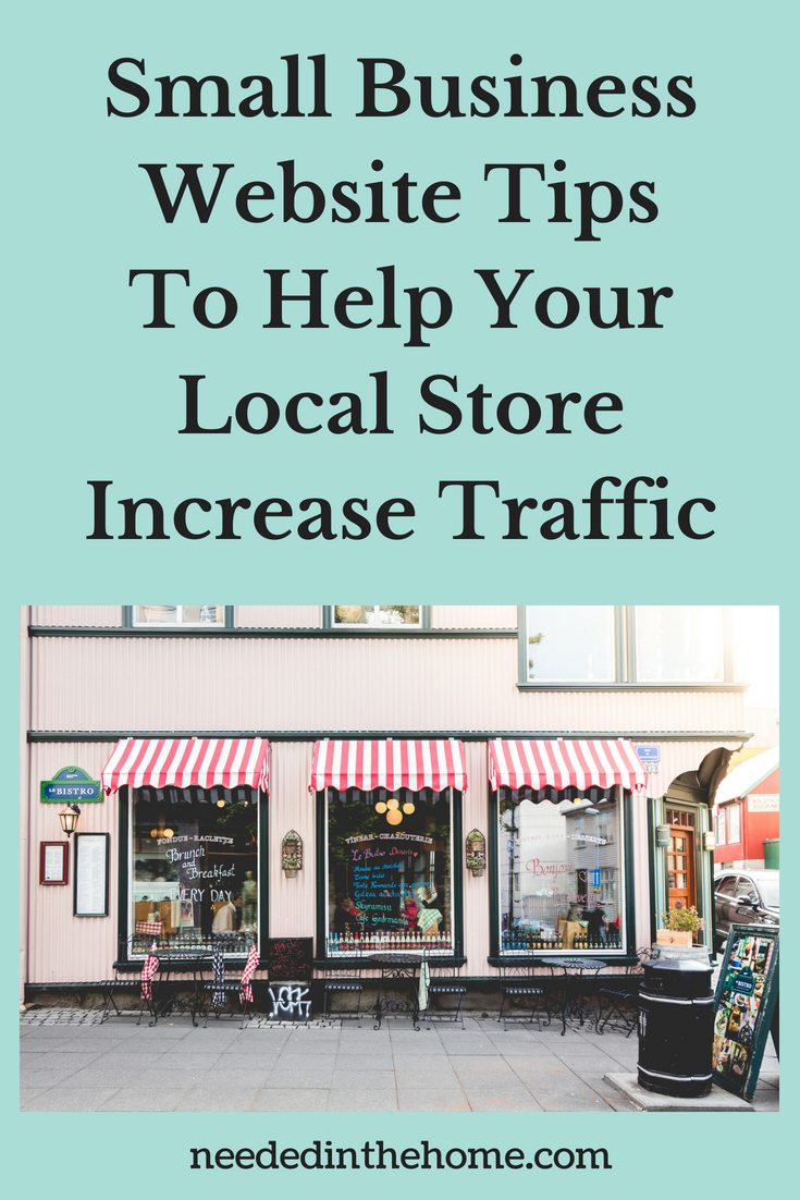 Small Business Website Tips To Help Your Local Store Increase Traffic image of storefront neededinthehome