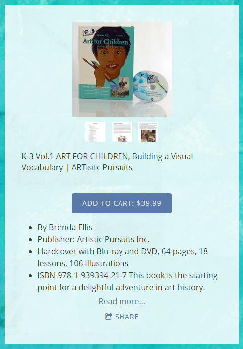 Product Review of ARTistic Pursuits image book details including price