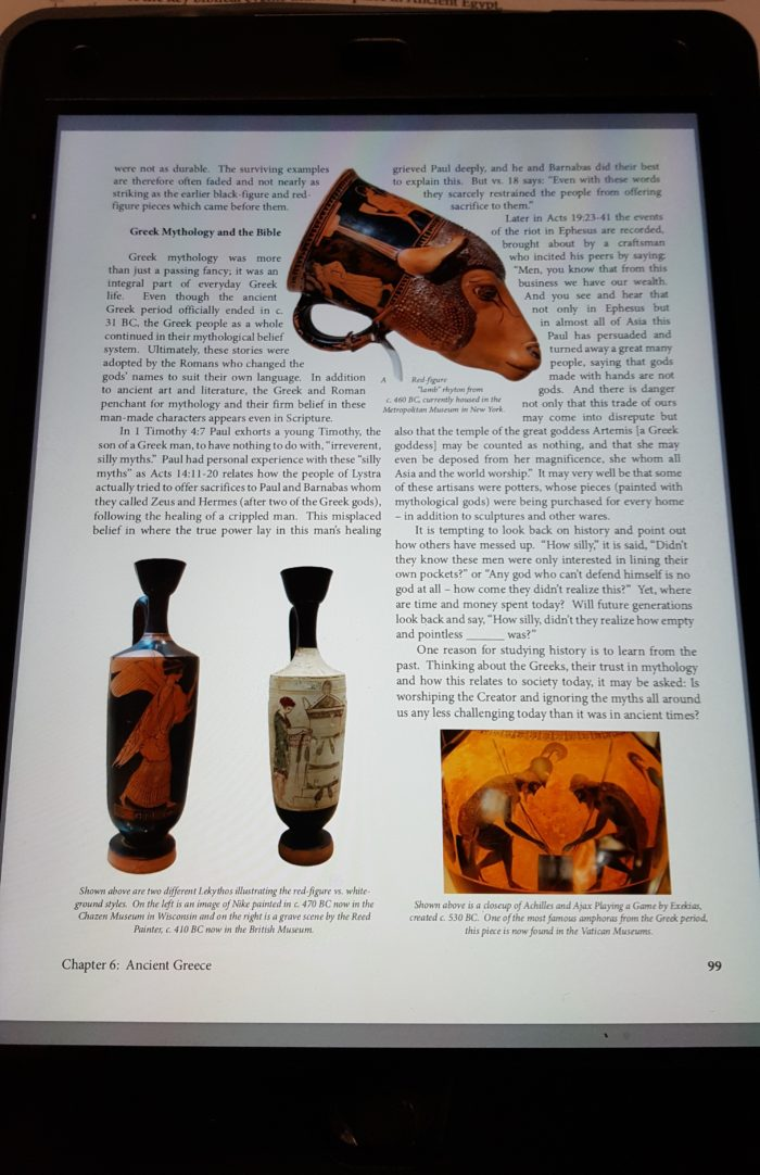 The Master and His Apprentices Review page 99 of digital textbook showing red-figure lekythos located in Wisconsin