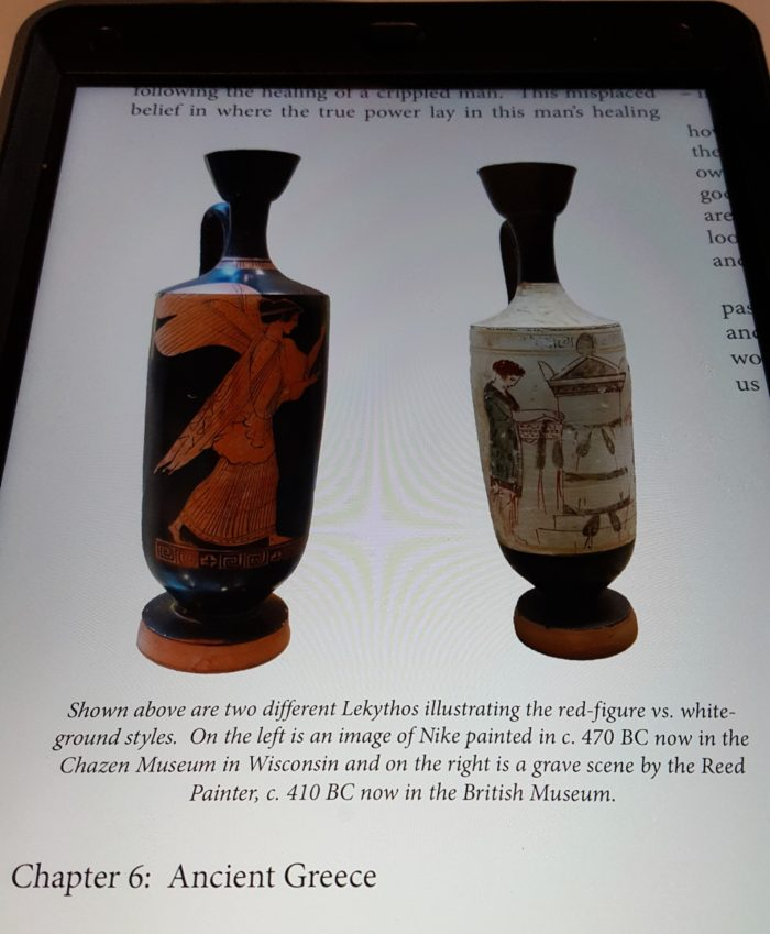 The Master and His Apprentices review image of red-figure lekythos and white-ground lekythos image of Nike and grave scene Ancient Greece art