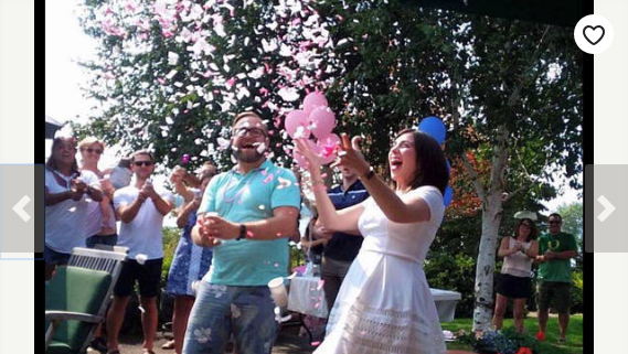 Cheap Wedding Ideas for Summer image bride and groom with confetti popping in the air
