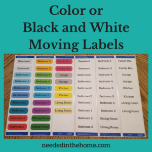 Color or Black and White Moving Labels for sale on Etsy at NeededInTheHome