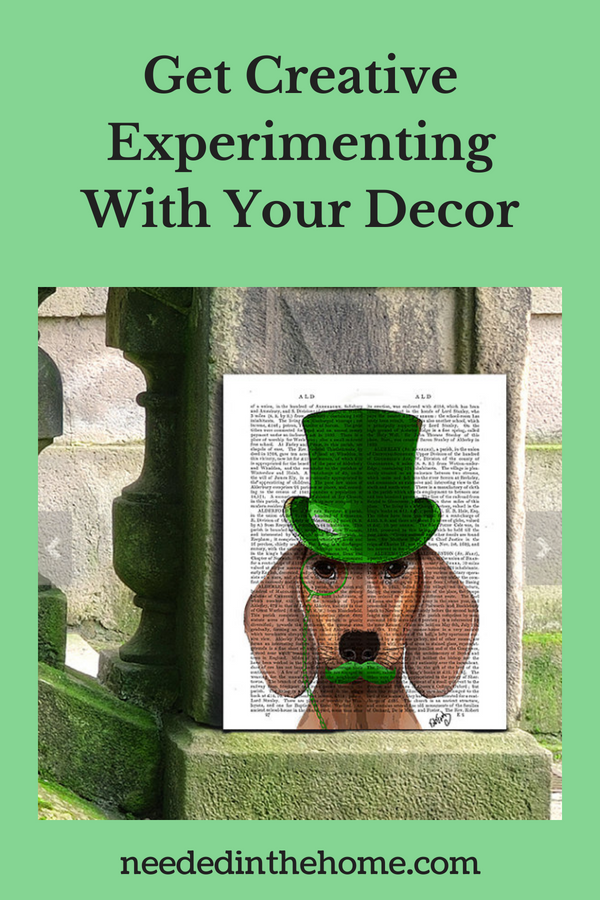 Get Creative Experimenting With Your Decor image funky dachshund picture display neededinthehome