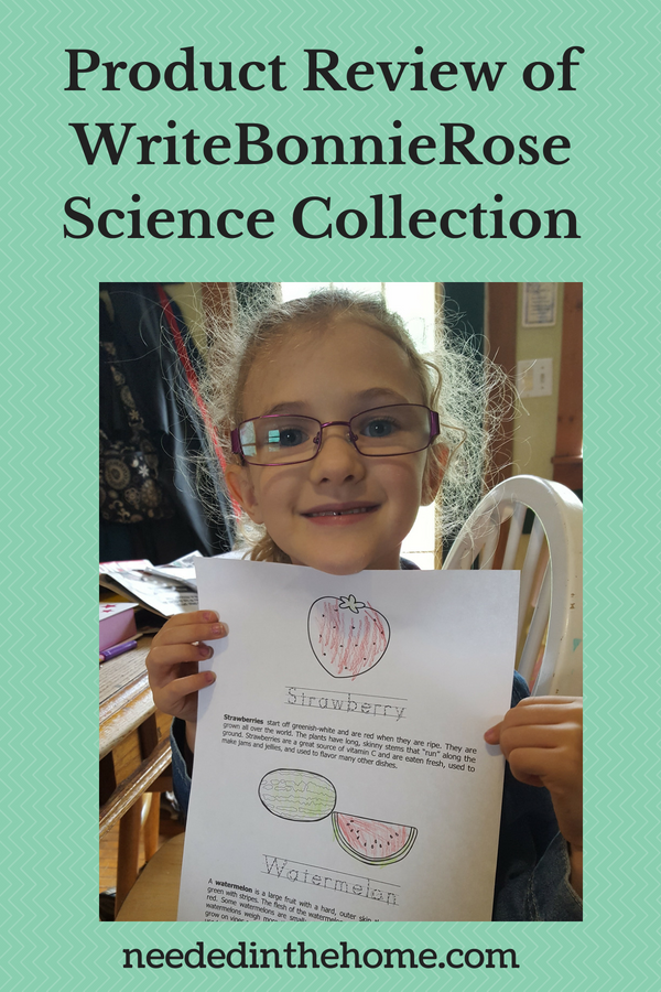 Product Review of WriteBonnieRose Science Collection