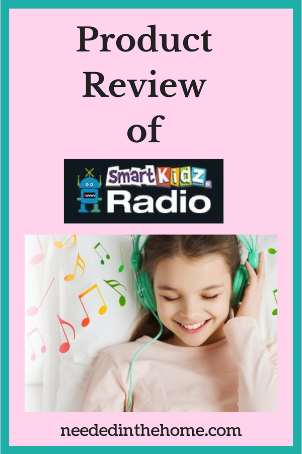 Product Review of Smart Kidz Radio girl listening to radio with headphones neededinthehome