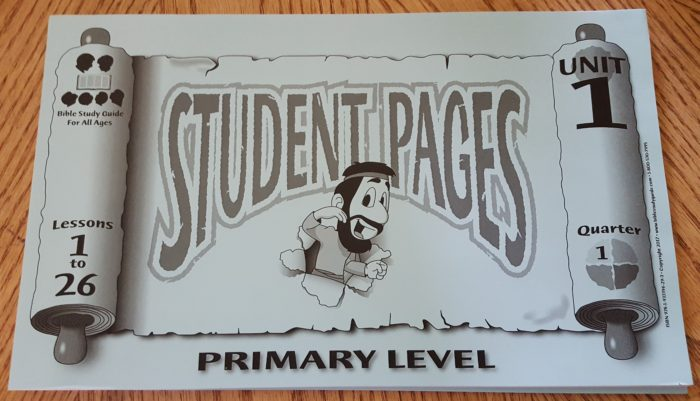 Bible Study Guide For All Ages Review front cover Student Pages Primary Level