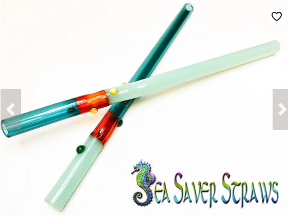 Multi-Colored Glass Fancy Drinking Straws