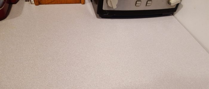 Young Living Thieves Products review of household cleaner a clean counter top after using it