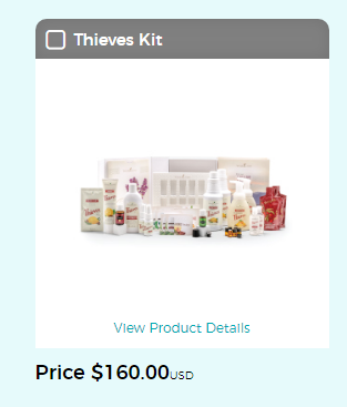 Young Living Thieves Products Thieves Kit and price
