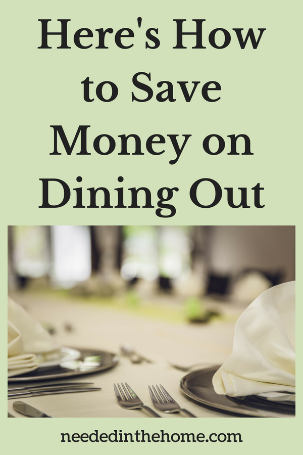 Here's How to Save Money on Dining Out restaurant table place settings neededinthehome