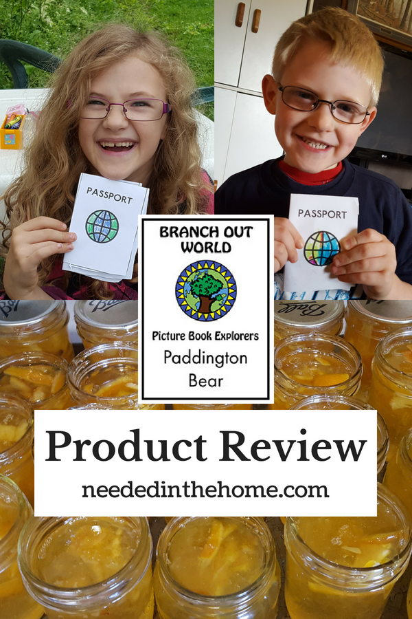 Branch Out World Picture Book Explorers Paddington Bear Product Review children holding homemade passports jars of marmalade neededinthehome