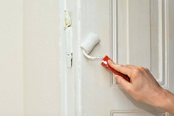 Easy Home Fixes That You Can Do Yourself Renovation Painter Working Renovate Paint roller door hinge