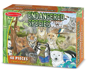 Gifts for six year old boy Endangered Species floor puzzle