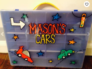 Gifts for a six year old boy personalized matchbox cars case Mason's cars