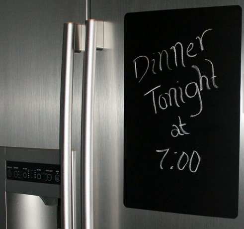 Unique home decor chalkboard vinyl sticker for the refrigerator dinner tonight at 7:00
